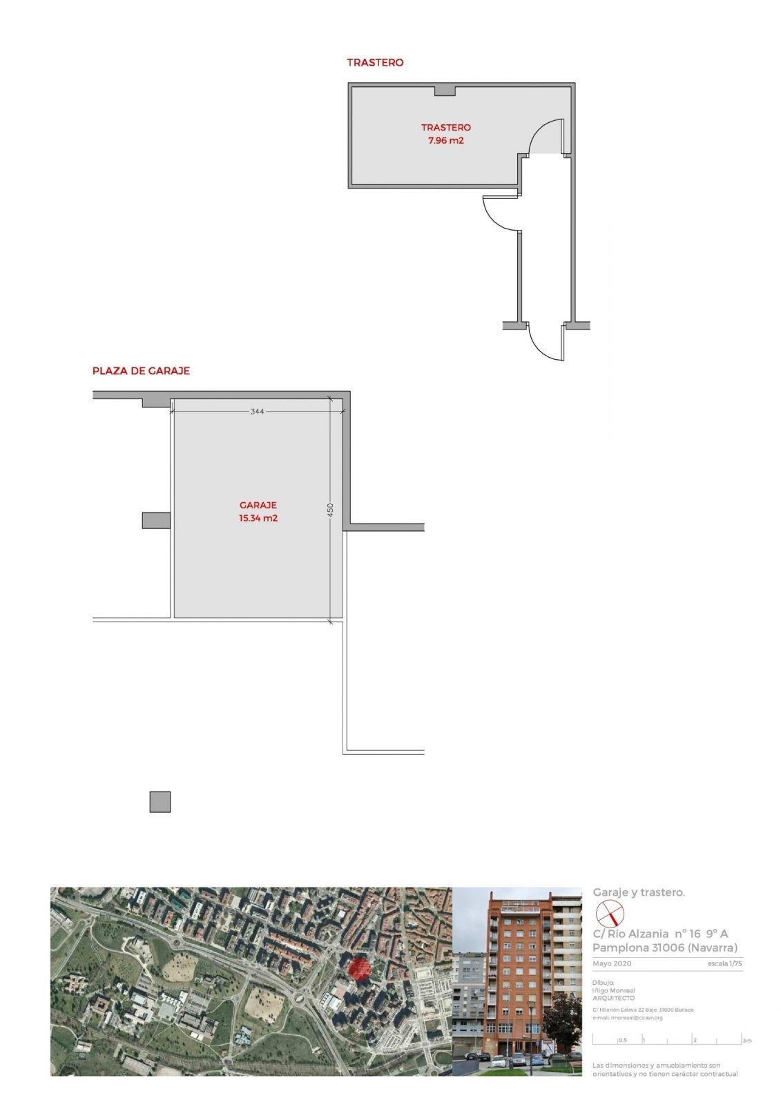 Plano garaje y trastero